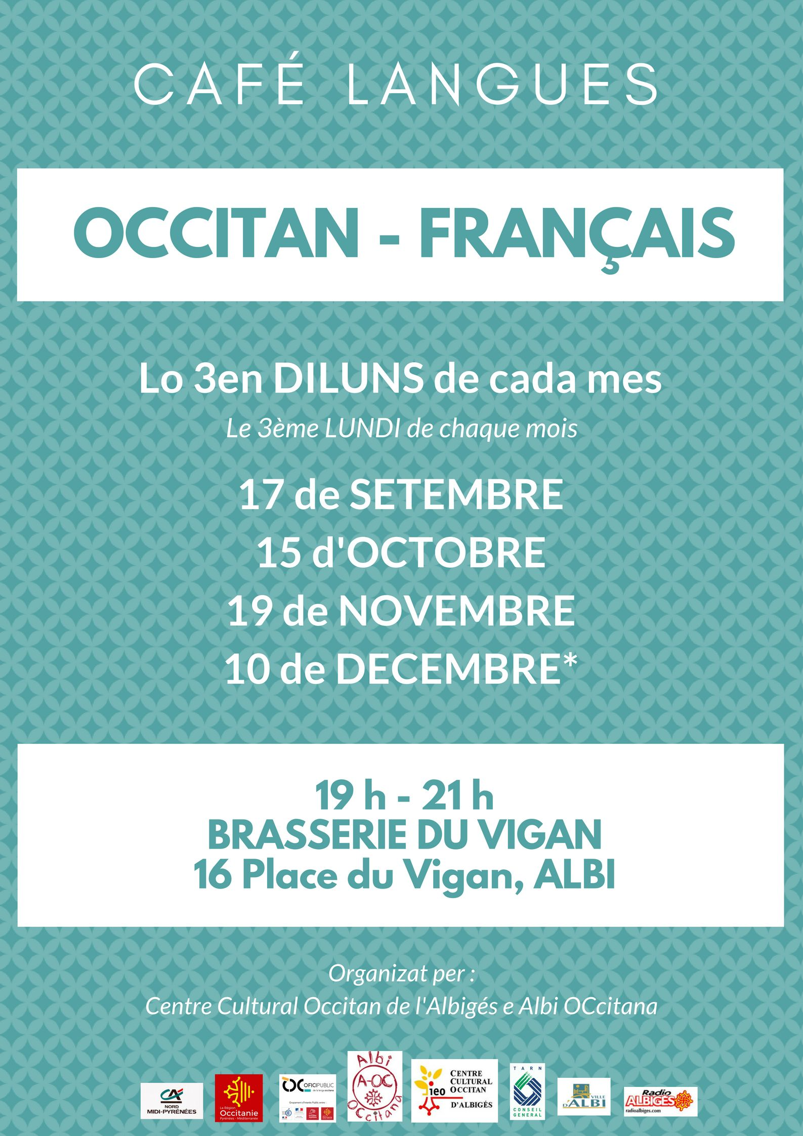Cafè de las lengas francès/occitan 10 de decembre