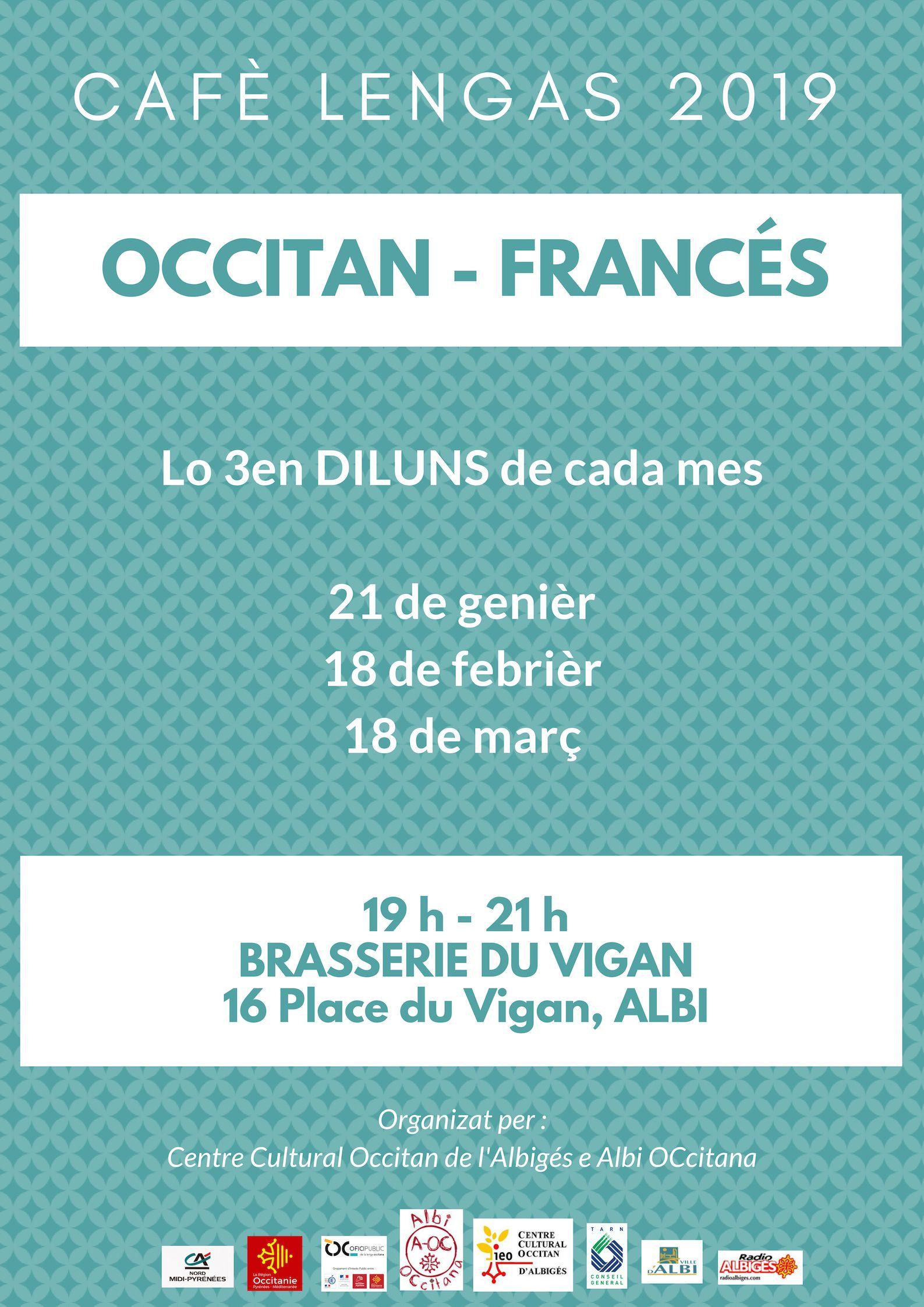 Cafè de las lengas francès/occitan 18 de març