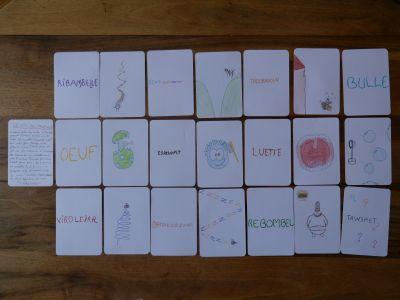 Jeu de cartes créé et dessiné par Oscar Decavèle (CM2) ©