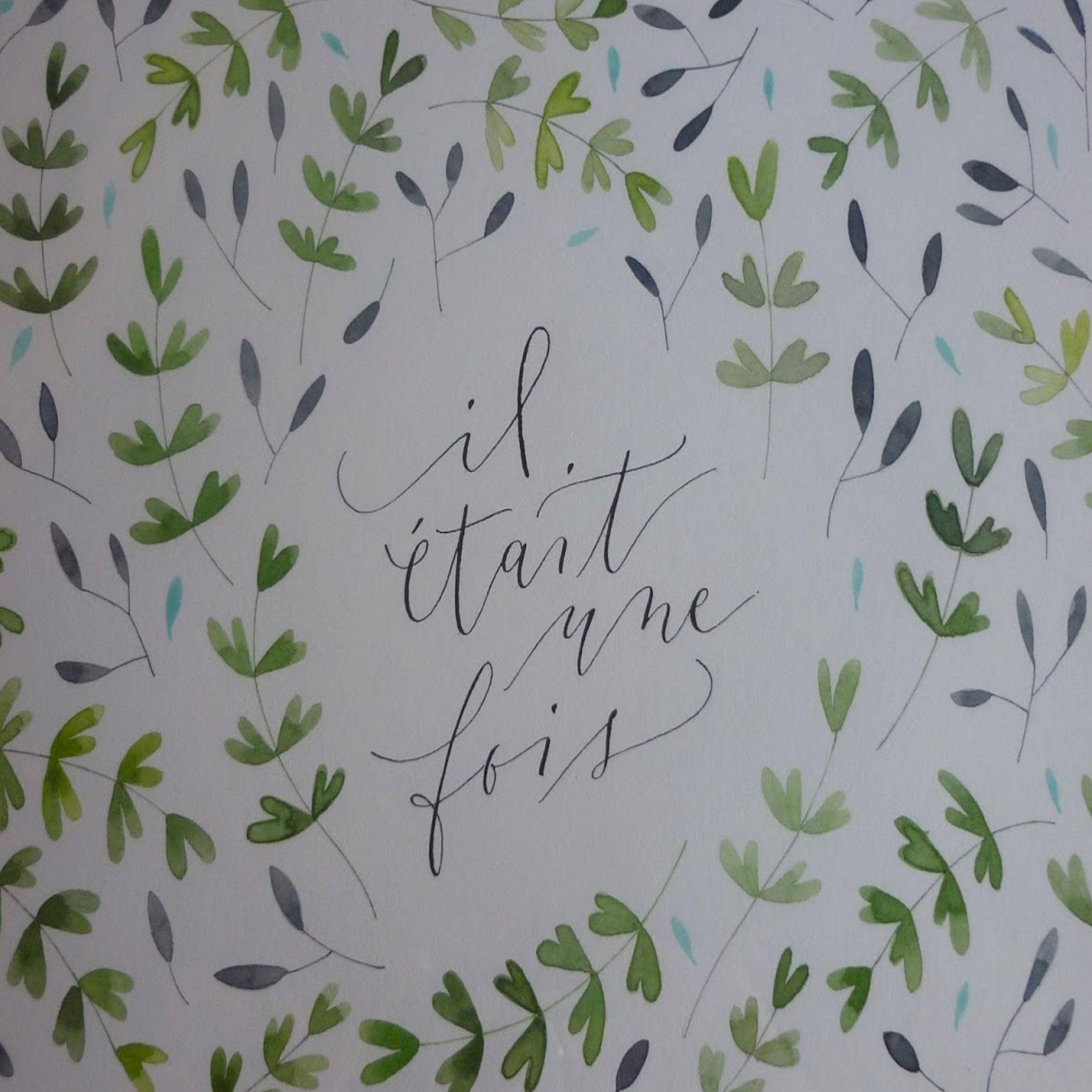 Calligraphie et teinture végétale sur papier